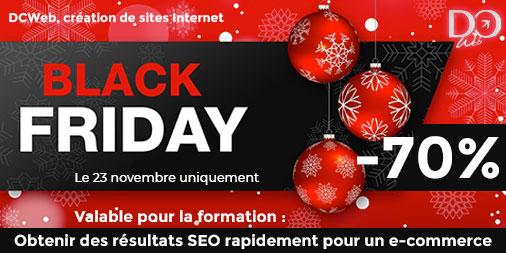 Black Friday chez DCWeb création de sites Internet et centre de formation